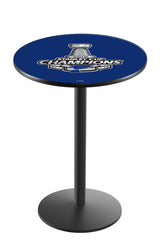 L214 Black Wrinkle St. Louis Blues Stanley Cup Pub Table