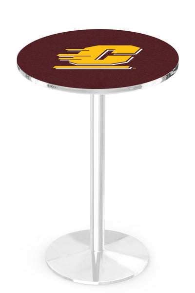 L214 Chrome Central Michigan Chippewas Pub Table