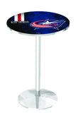 L214 Chrome Columbus Blue Jackets Pub Table