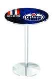 L214 Chrome Edmonton Oilers Pub Table