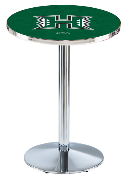 L214 Chrome Hawaii Rainbow Warriors Pub Table