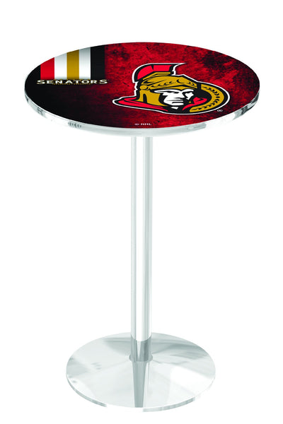 L214 Chrome Ottawa Senators  Pub Table