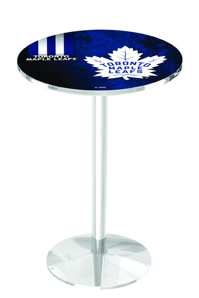 L214 Chrome Toronto Maple Leafs Pub Table