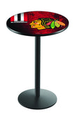 L214 Black Wrinkle Chicago Blackhawks Pub Table