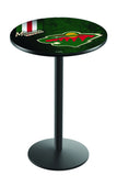 L214 Black Wrinkle Minnesota Wild Pub Table