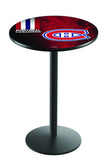 L214 Black Wrinkle Montreal Canadians Pub Table