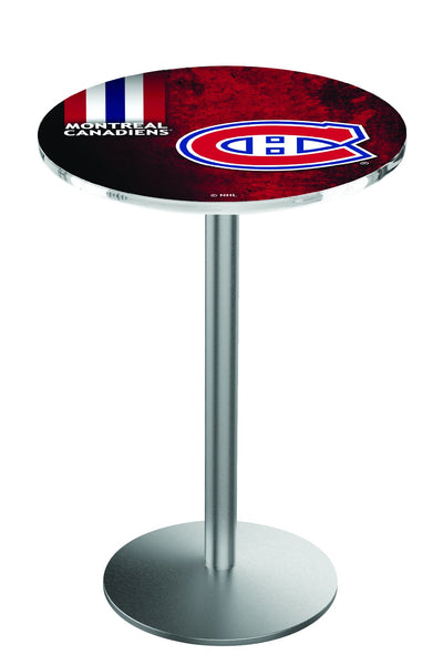 L214 Stainless Montreal Canadians Pub Table