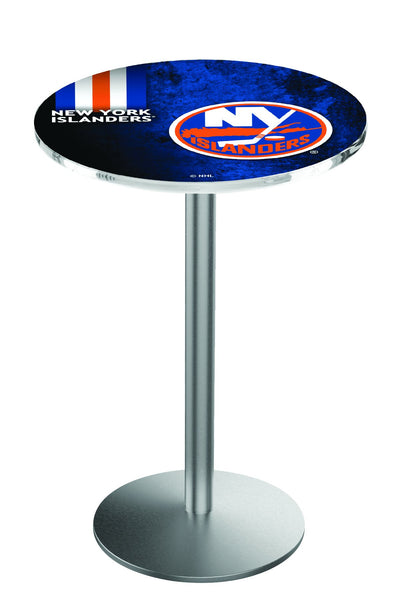 L214 Stainless New York Islanders Pub Table