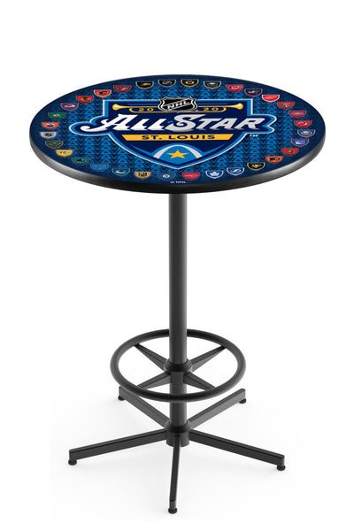 L216 Black Wrinkle All Star Game Pub Table