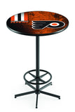 L216 Black Wrinkle Philadelphia Flyers Pub Table