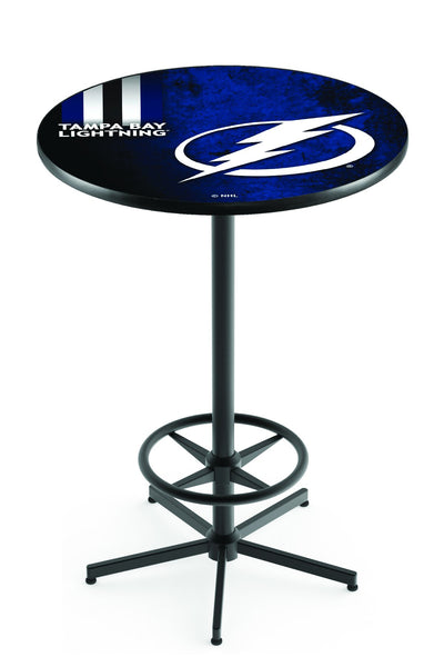 L216 Black Wrinkle Tampa Bay Lightning Pub Table