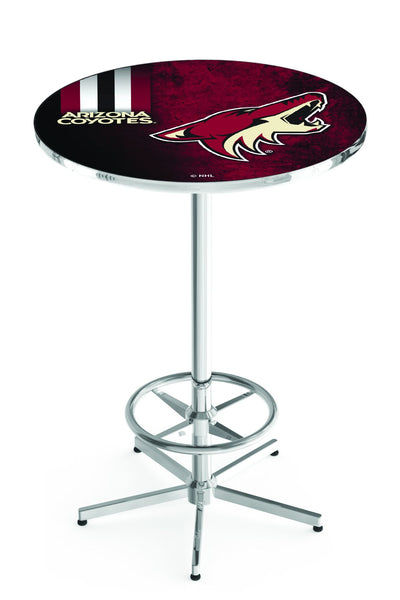 L216 Chrome Arizona Coyotes Pub Table