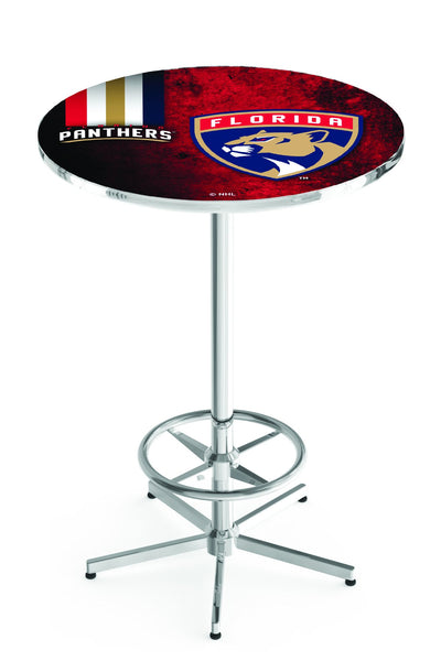 L216 Chrome Florida Panthers Pub Table