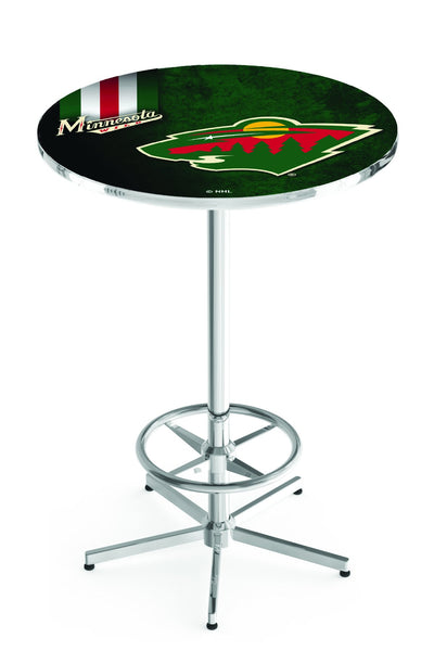 L216 Chrome Minnesota Wild Pub Table