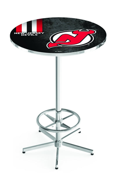 L216 Chrome New Jersey Devils Pub Table