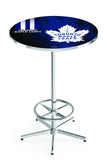 L216 Chrome Toronto Maple Leafs Pub Table