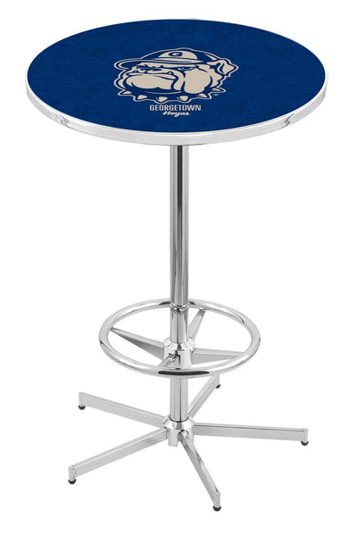 L216 Chrome Georgetown Hoyas Pub Table