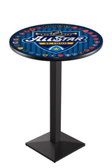 L217 Black Wrinkle All Star Game Pub Table