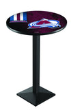L217 Black Wrinkle Colorado Avalanche Pub Table