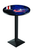 L217 Black Wrinkle Columbus Blue Jackets Pub Table