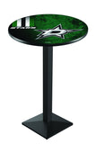 L217 Black Wrinkle Dallas Stars Pub Table