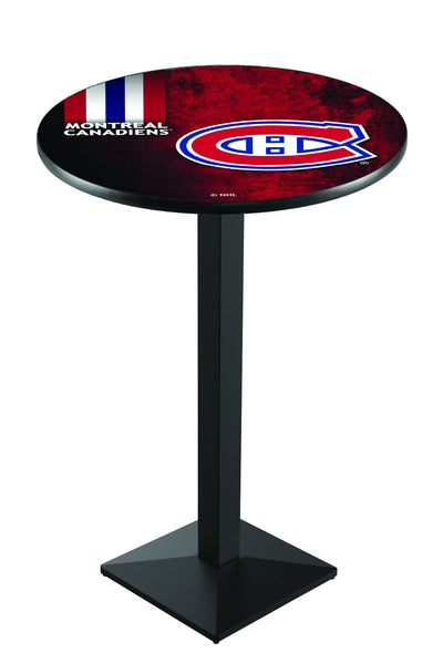 L217 Black Wrinkle Montreal Canadians Pub Table