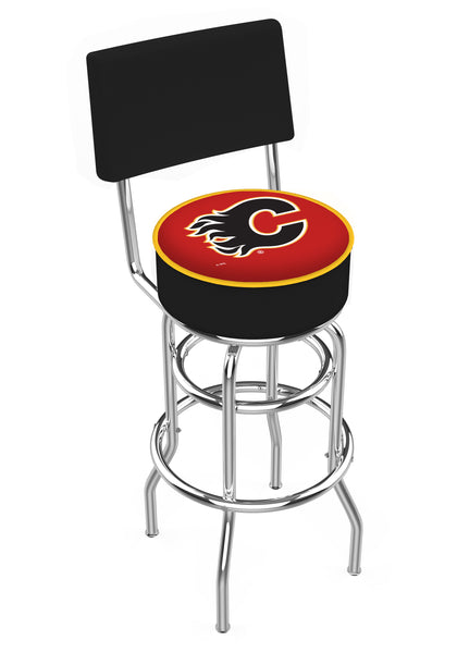 Calgary Flames L7C4 Retro Bar Stool | Calgary Flames Counter Bar Stool
