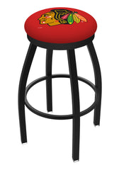 Chicago Blackhawks L8B2B Backless Bar Stool | Chicago Blackhawks Backless Counter Bar Stool