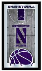 Northwestern Wildcats Basketball Mirror by Holland Bar Stool Company