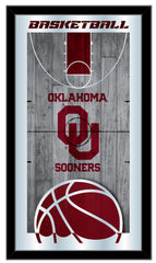 Oklahoma Sooners Basketball Mirror Basketball Mirror by Holland Bar Stool Company