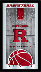Rutgers Basketball Mirror by Holland Bar Stool Company