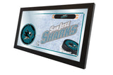 "15"" X 26"" San Jose Sharks Collector Mirror"