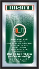 Miami Hurricanes Fight Song Mirror by Holland Bar Stool Company