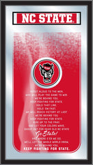 NC State Wolfpack Fight Song Mirror by Holland Bar Stool Company