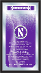 Northwestern Wildcats Fight Song Mirror by Holland Bar Stool Company