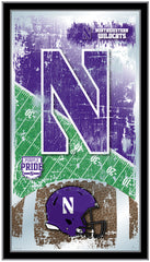 Northwestern Wildcats Football Mirror by Holland Bar Stool Company