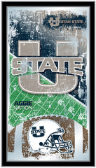 Utah State Aggies Football Mirror by Holland Bar Stool Company