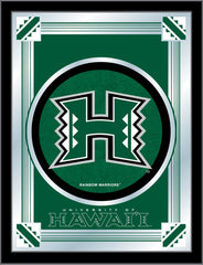 Hawaii Rainbow Warriors Logo Mirror by Holland Bar Stool Company