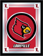 Louisville Cardinals Logo Mirror by Holland Bar Stool Company