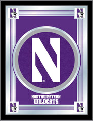 Northwestern Wildcats Logo Mirror by Holland Bar Stool Company