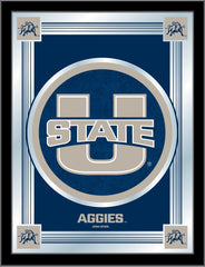 Utah State Aggies Logo Mirror by Holland Bar Stool Company