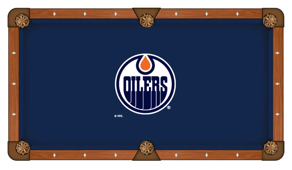 Edmonton Oilers Logo Billiard Cloth