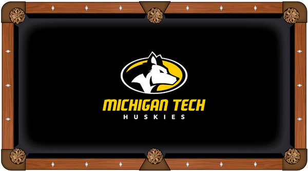 Michigan Tech Logo Billiard Cloth