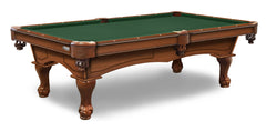 Elite-Pro Spruce Non-Logo Billiard Cloth on a Chardonnay Finish Pool Table