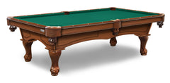 Elite-Pro Standard Green Non-Logo Billiard Cloth on a Chardonnay Finish Pool Table