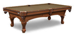 Elite-Pro Taupe Non-Logo Billiard Cloth on a Chardonnay Finish Pool Table