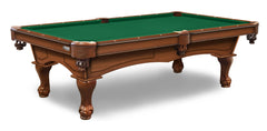 Elite-Pro Tournament Green Non-Logo Billiard Cloth on a Chardonnay Finish Pool Table