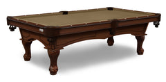 Elite-Pro Taupe Non-Logo Billiard Cloth on a Navajo Finish Pool Table