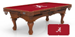 University of Alabama A Script Pool Table with Logo Cloth