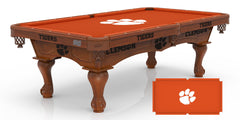 Clemson University Pool Table with Logo Cloth